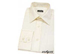 Smetanová pánská slim fit košile, dl.rukáv, 167-2 V2