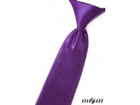 Sytě fialová lesklá dětská kravata