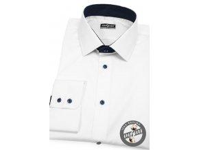 Bílá pánská slim fit košile, dl.rukáv, 109-9131