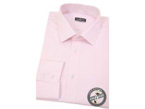 Růžová pánská slim fit košile, dl.rukáv, 109-9
