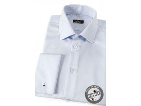 Modrá pánská slim fit košile na manž. knoflíčky, 122-1505