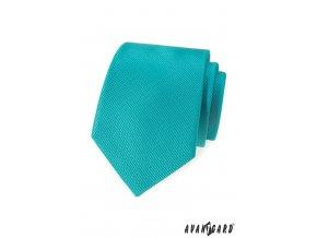 Tyrkysová vroubkovaná kravata