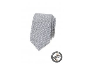 Černobílá slim bavlněná kravata se vzorkem