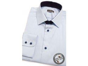 Světle modrá pánská bavlněná slim fit košile, dl.rukáv 109-4931