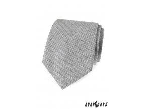 Šedá luxusní kravata