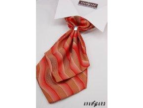 Plastron + kapesníček 554-71110 Červená (Barva Červená, Velikost 0, Materiál 100% polyester)