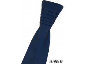 Tmavě modrá matná regata + kapesníček