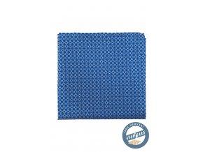 Modrý hedvábný kapesníček se vzorkem