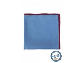 Světle modrý kapesníček s tmavým okrajem
