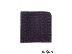 Tmavě modrý luxusní kapesníček se vzorkem