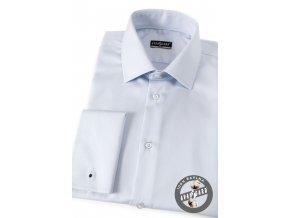 Světle modrá pánská slim fit košile, dl. rukáv na manž. knoflíčky, 122-1505