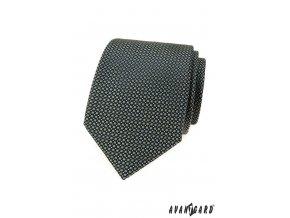 Světle zelená luxusní kravata se vzorem