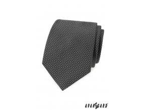 Šedá luxusní kravata s drobným vzorem