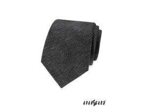 Šedá vzorovaná luxusní kravata