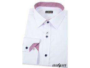 Bílá pánská košile  slim fit, dl. rukáv 125-0173