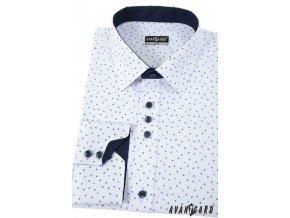 Bílá pánská košile Slim fit, dl. rukáv, 125-0174