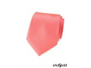 Lososová jednobarevná luxusní kravata