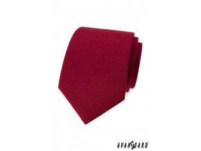Bordó matná jednobarevná luxusní kravata