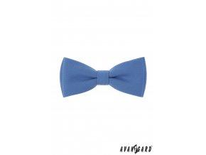 Bledě modrý pánský motýlek + kapesníček do saka