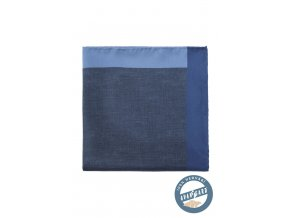 Riflově modrý hedvábný kapesníček do saka