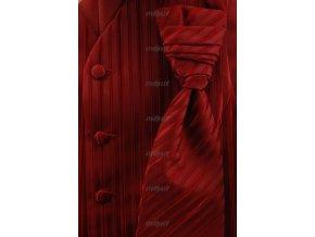 Vesta + regata + kapesníček 552-83 83 - bordó (Barva 83- bordó, Velikost 60, Materiál 100% polyester)