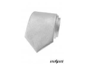 Stříbrná pánská luxusní kravata