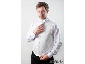 Vesta + regata + kapesníček 552-9550 Bílá (Barva Bílá, Velikost 48, Materiál 100% polyester)