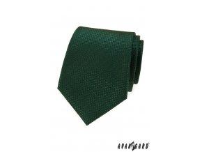 Tmavě zelená luxusní pánská kravata
