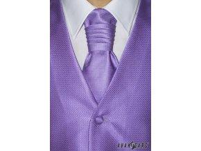 Zářivě fialová čtverečkovaná vesta + regata + kapesníček _