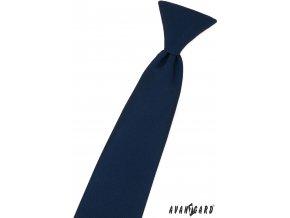 Tmavě modrá matná dětská kravata na gumičku