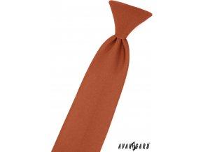 Skořicově hnědá dětská kravata na gumičku