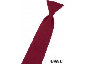 Bordó dětská kravata na gumičku (31 cm)