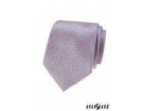 Zajímavá šedorůžová luxusní pánská kravata