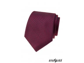 Bordó luxusní pánská kravata s jemnou vroubkovanou strukturou