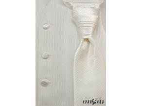 Vesta + regata + kapesníček 552-38 38 - smetanová (Barva 38 - smetanová, Velikost 54/194, Materiál 100% polyester)