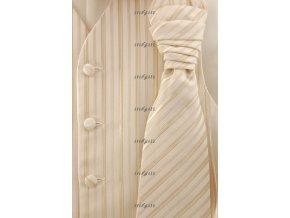 Vesta + regata + kapesníček 552-66 66 - smetanová (Barva 66 - smetanová, Velikost 52, Materiál 100% polyester)