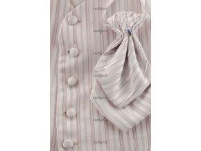 Vesta chlapecká + plastronka + kapesníček 560-69 69 - stříbrná (Barva 69 - stříbrná, Velikost 110, Materiál 100% polyester)
