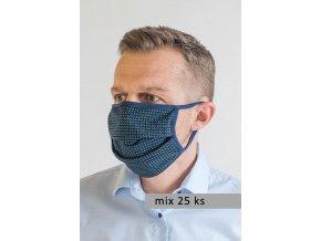 Pánská ochranná rouška na obličej s oušky - sada 25 ks (Foto je pouze orientační)