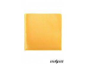 Žlutý jednobarevný kapesníček bez vzoru