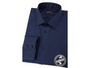 Velmi tmavě modrá pánská slim fit košile, dl.rukáv, 109-5508