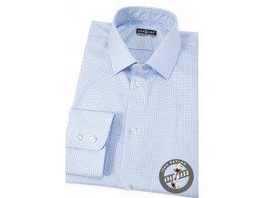 Velmi světle modrá pánská slim fit košile, dl.rukáv, 109-5511