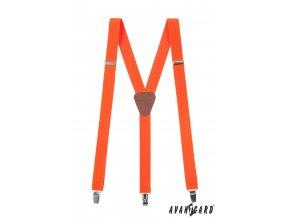 Tmavě oranžové pánské kšandy s tmavě hnědým středem