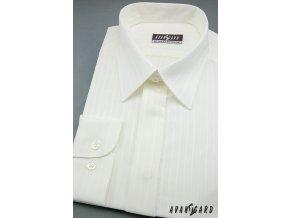 Pánská košile svatební KLASIK 563-90017 3022-90017 smetanová (Barva 3022-90017 smetanová, Velikost 41/194, Materiál 80% bavlna a 20% polyester)