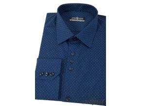 Tmavě modrá pánská společenská košile, dl. ruk., 511-3111