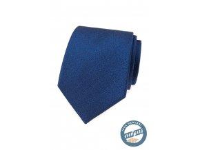 Sytě modrá hedvábná pánská kravata + dárková krabička