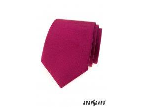 Vínová matná pánská kravata