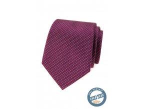 Vínová vzorovaná luxusní pánská kravata