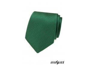 Zelená pánská kravata s vroubkovanou strukturou