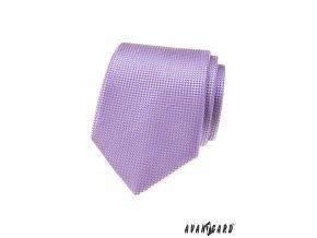 Lila pánská kravata s šachovnicovým vzorkem