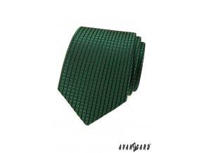 Smaragdově zelená pánská kravata s tmavými proužky